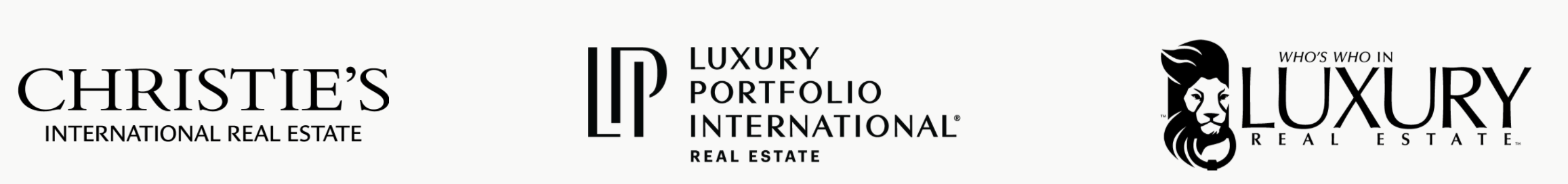 luxury real estate parternship logos